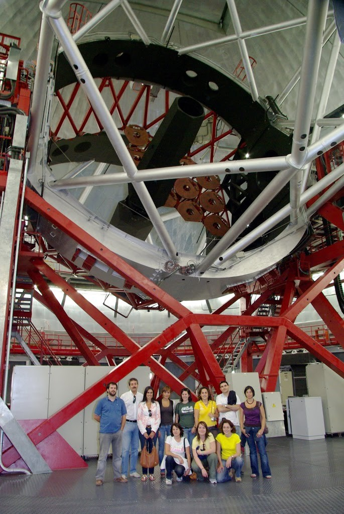 inside Gran Telescopio Canarias