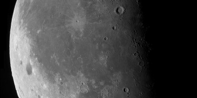 The moon. Photo by Nick Smith, taken on August 14th at the Roque de los Muchachos