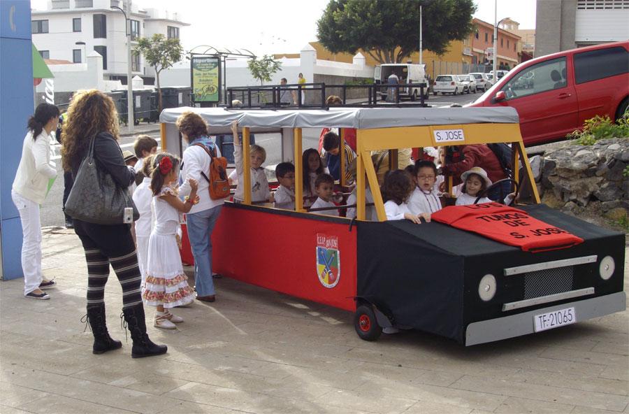 The Carnival bus from the local school, Breña Baja, La Palma
