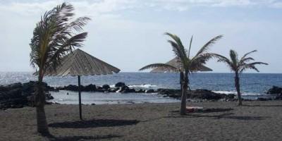 The not-vey-white sand at Salemera beach, Mazo, La Palma Island