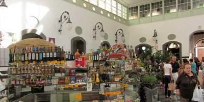 The inside of Santa Cruz Market