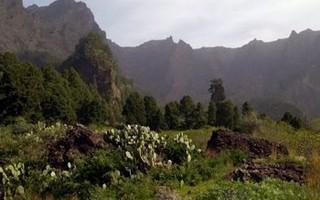 The Caldera de Taburiente, near the campsite