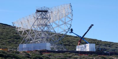 The Large Size Telescope under construction, Roque de Los Muchachos, Garafia, La Palma