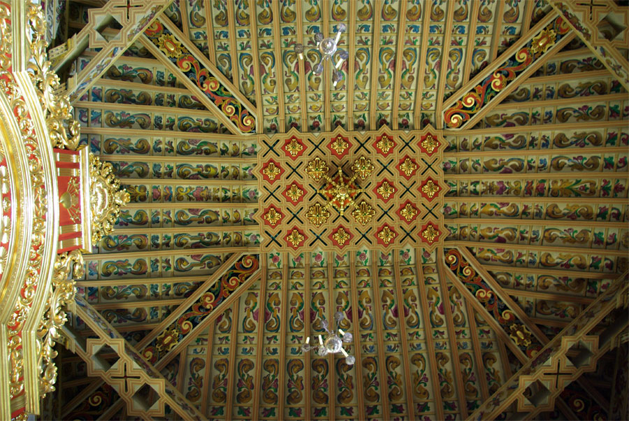 The ceiling of the church at Las Nieves, La Palma island