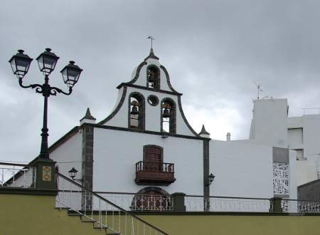 The outside of the church of St Michael the Archangel, Tazacorte