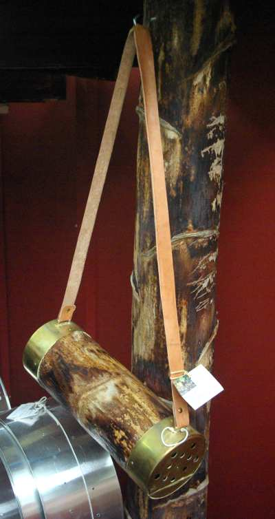 A traditional ferret holder in Barlovento craft fair, La Palma island