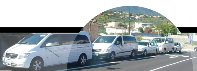 Taxis on La Palma island