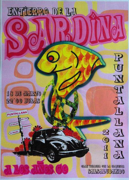 Poster for the Sardine in Puntallana, 2011