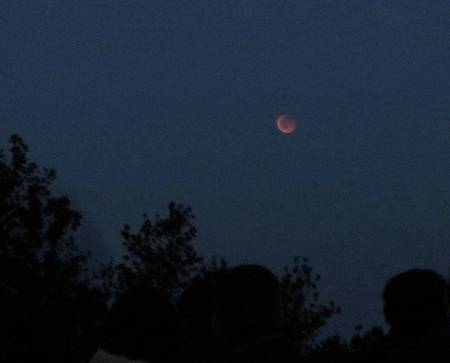 Total eclipse of the moon from Llano de la Venta viewpoint