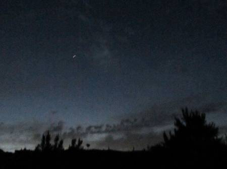 The International  Space Station passing over La Palma, seen from Breña Alta