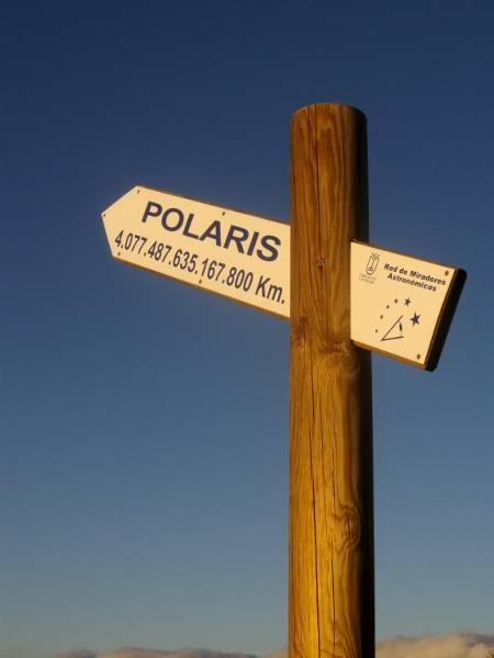 Signpost to the  Pole Star, Breña Alta, La Palma.