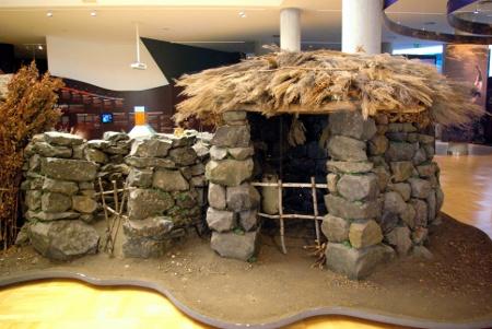 Prehispanic huts at the ethnographic museum, Los Llanos de Aridane, La Palma