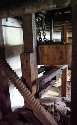 Gears underneath the windmill, Mazo.