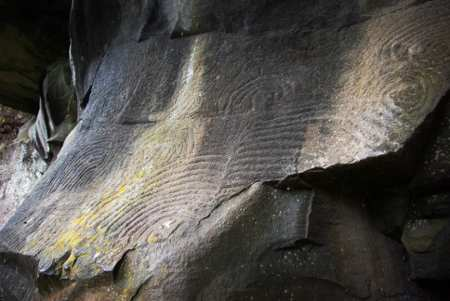 Rock carvings at La Zarza, Garafia, La Palma