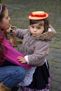 Little girl at the fiesta of St Anthony the Abbot, Fuencaliente, La Palma, Canary Islands