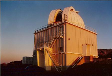 The Jacobus Kapteyn Telescope at sunset, Roque de Los Muchachos, La Palma