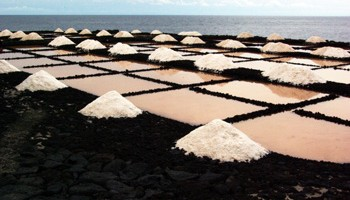 Sea salt being made in Fuencaliente, La Palma island