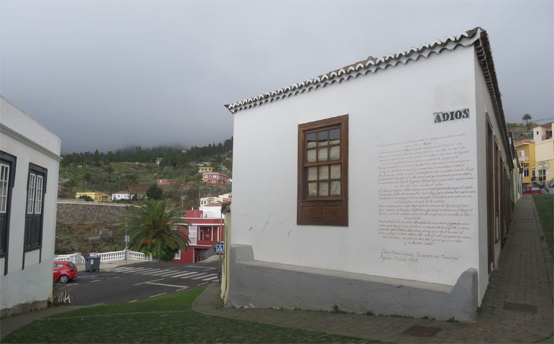 Goodbye Street, Tijarafe, La Palma island