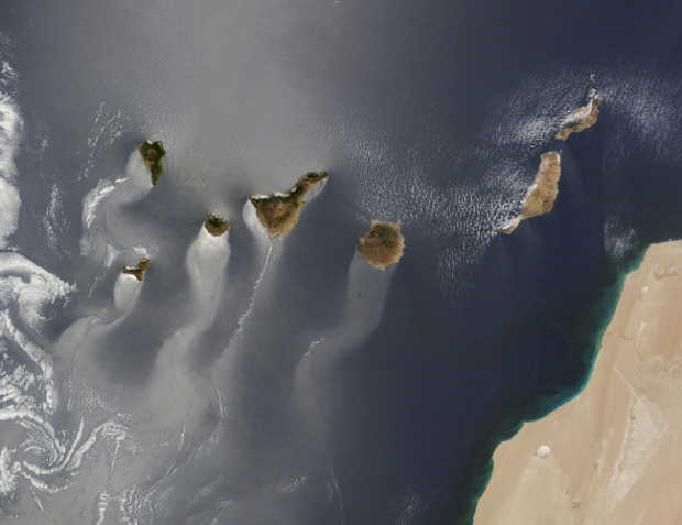 The Canary Islands from NASA's Terra satellite  on June 15, 2013