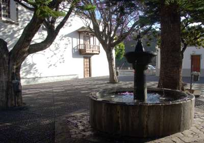 The fountain outside Las Nieves church, Santa Cruz de la Palma
