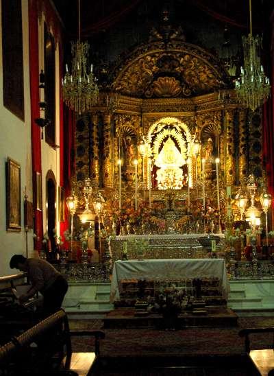 Interior of Las Nieves church, Santa Cruz de la Palma