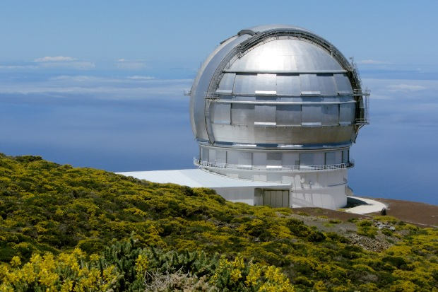 Gran Telescopio Canarias with codeso in bloom