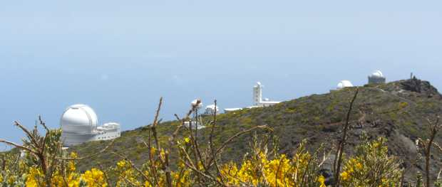 Some of the telescopes at the Roque de Los Muchachos