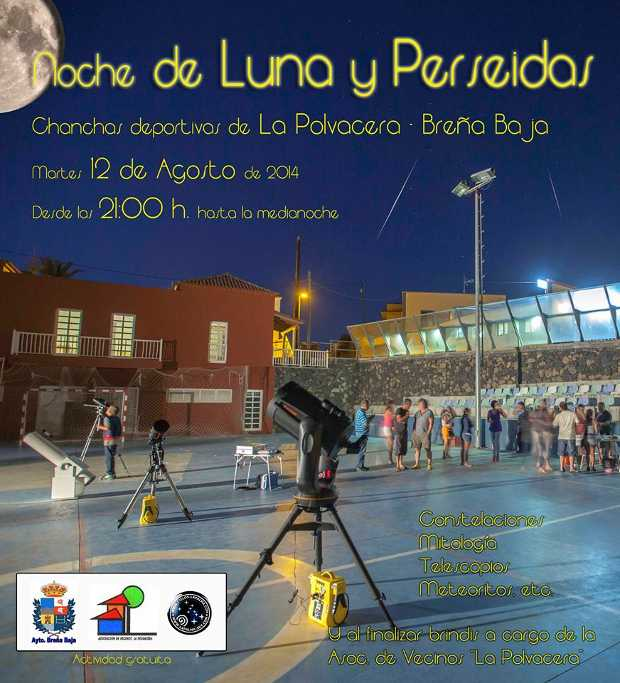 La Polvacera (Breña Baja)  basketball court, full of telescopes.