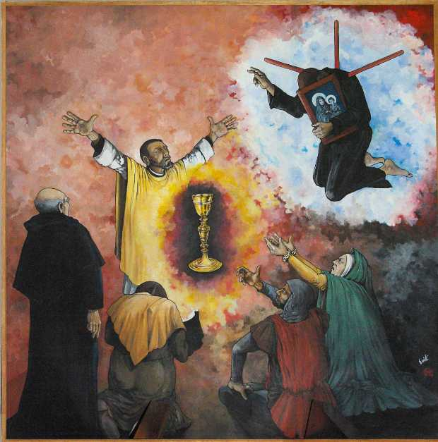 Tazacorte martyrs: Father Acevedo has a vision of his impending martyrdom