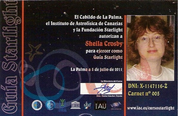 ID card for a Starlight Guide