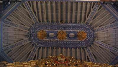 The ceiling in the church of San Juan, Puntallana