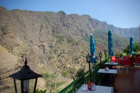 The view from El Balcon restaurant, Los Llanos, La Palma, Canary Islands