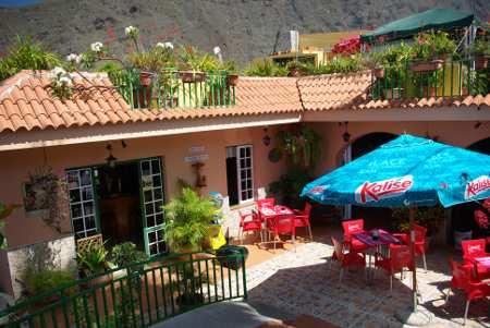 The patio of El Balcon restaurant, Los Llanos, La Palma, Canary Islands