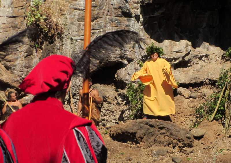 The spirit of the ravine., insisting on peace, La subida de la virgin, Santa Cruz de La Palma