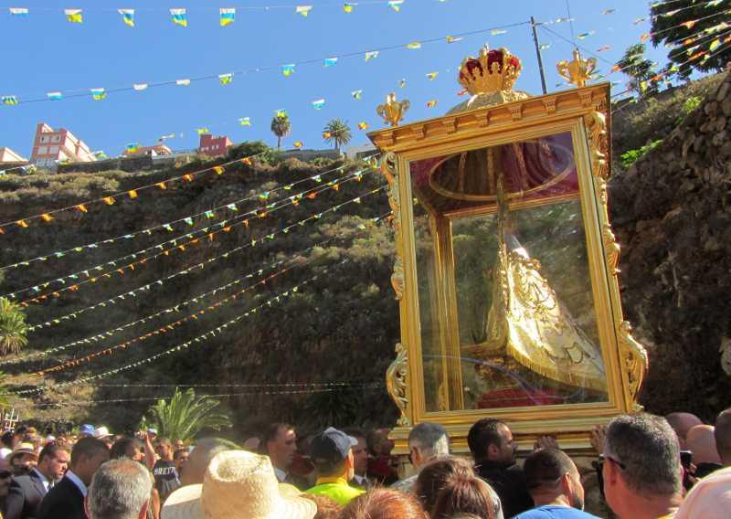 La subida de la virgin, Santa Cruz de La Palma