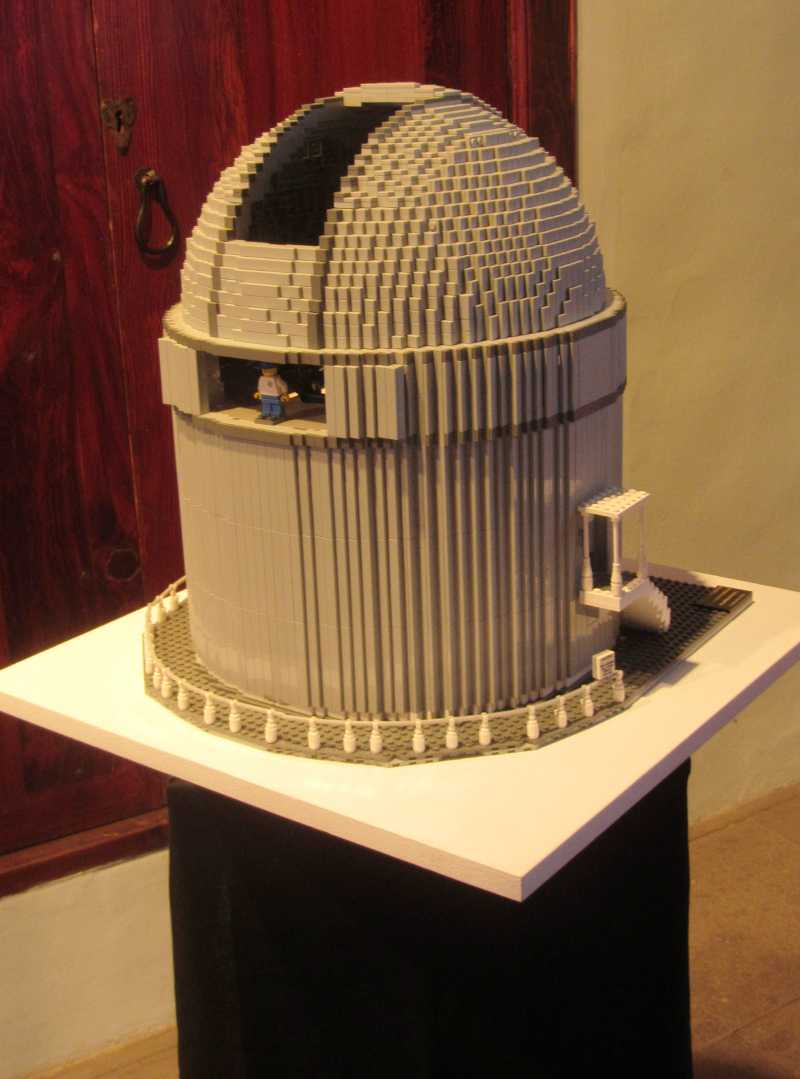 A Lego model of the Nordic Optical Telescope, IAC exhibition, Santa Cruz de La Palma