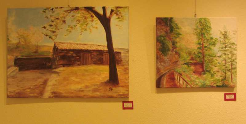 Two paintings by Mariana Arranz