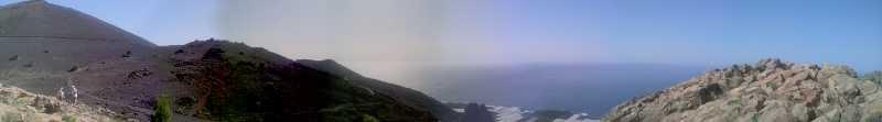 Panorama from Roque Teneguía, Fuencaliente, La Palma