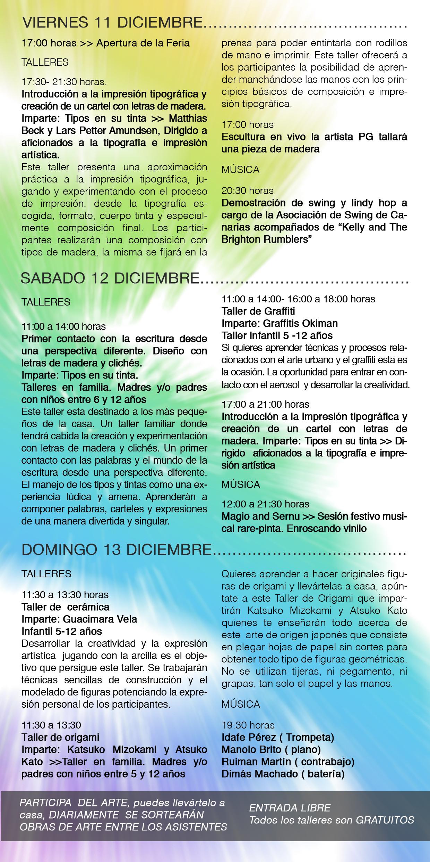 The program for the III La Palma Art Fair in El Paso