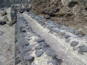 The old water channel at Los Cancajos, Brena Baja, La Palma