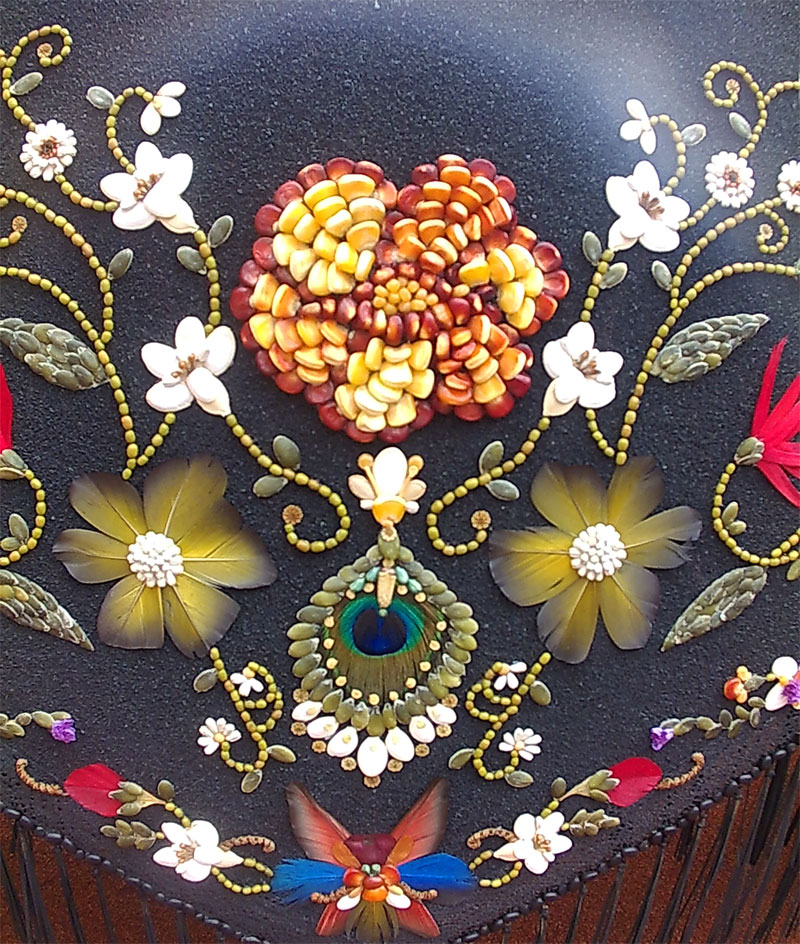 Detail from one of the decorations, Sacred Heart Fiesta, El Paso, La Palma island