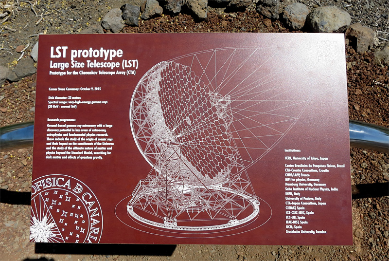 The plaque fro the first stone ceremony for the Large Size Telescope at the Europen Northern Observatory at the Roque de Los Muchachos