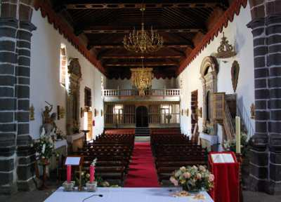 The nave in the church of San Juan, Puntallana