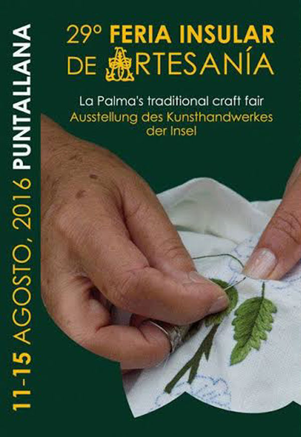 Poster for this year's craft fair in Puntallana