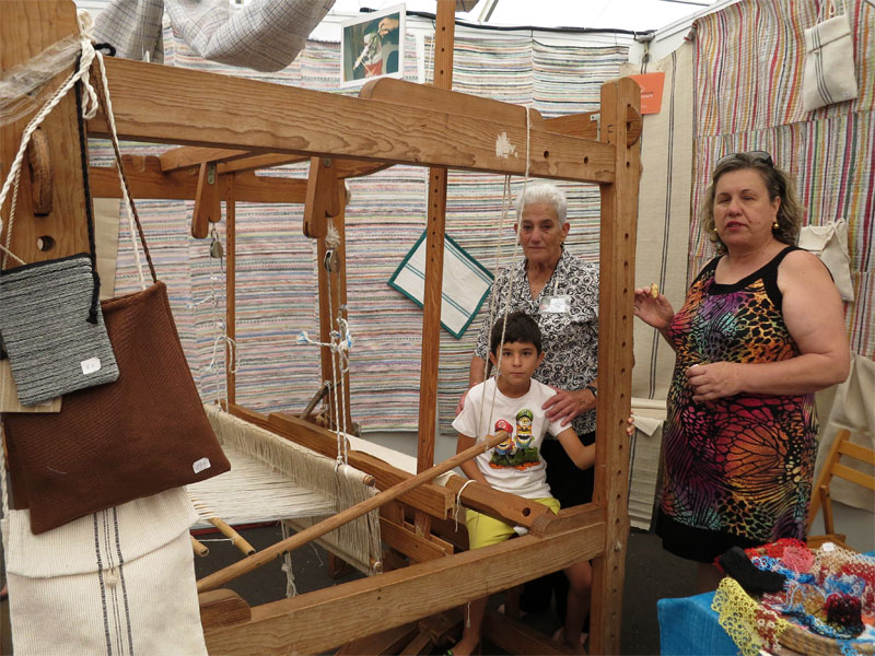 Rag rug loom, Puntallana craft fair 2016