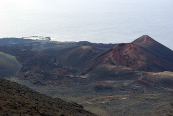 The Teneguia volcano, looking like Mars. Fuencaliente, La Palma