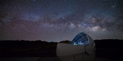 The first GOTO dome at Roque de Los Muchachos observatory on La Palma.