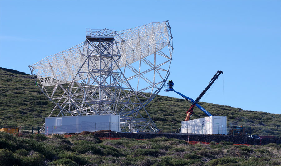 The Large Size Telescope under construction, Roque de Los Muchachos, Garafia, La Palma