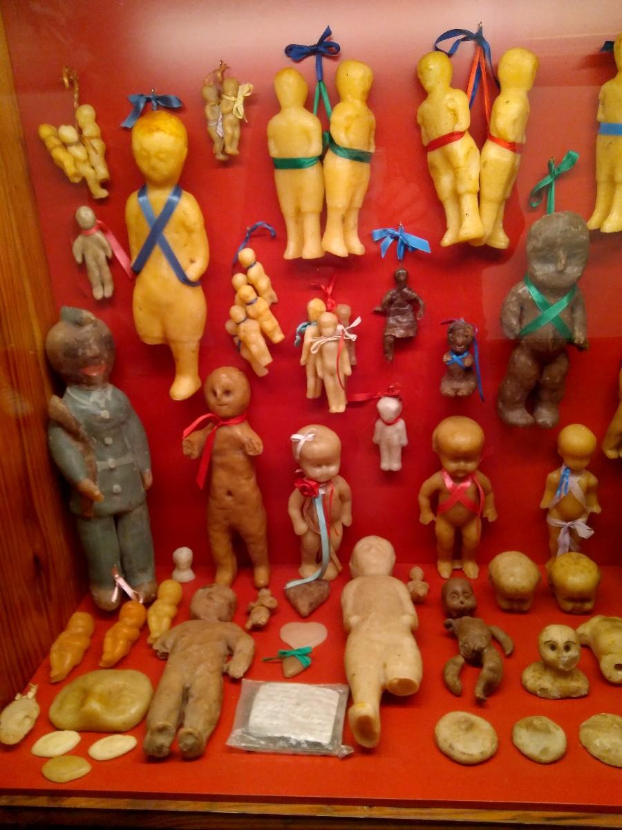 Wax votive offerings, Sacred Museum, Las Nieves, La Palma island