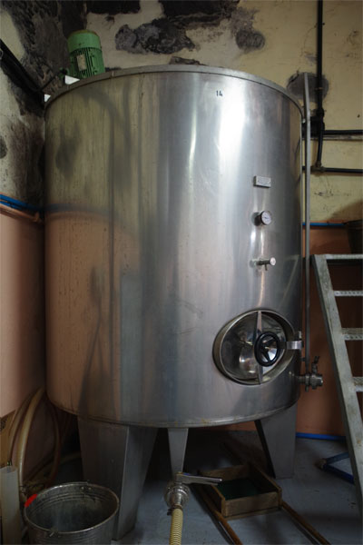 Fermentation tank at the Ron Aldea distillery, Puerta Espindola, San Andres y Sauces, La Palma island
